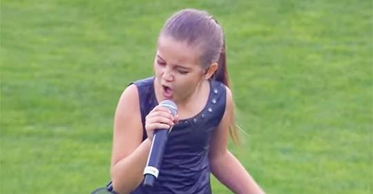 Kleines Mädchen singt Queens Megahit bei einem unvergesslichen Auftritt im Stadion