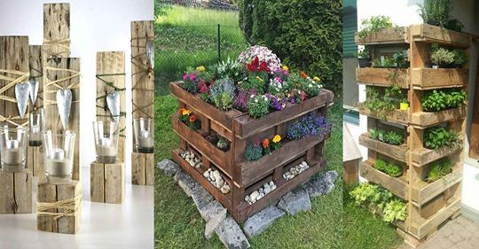 Wussten Sie bereits, dass Sie alte Paletten zu den schönsten Dingen im und um das Haus gestalten können?