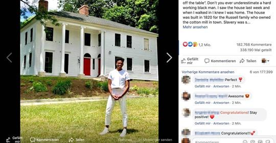 Wünschte, ich könnte es meinen Vorfahren erzählen: Schwarzer kauft Haus, das von Sklaven gebaut wurde