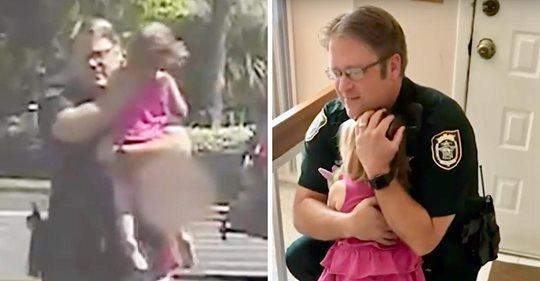 Polizeibeamter rettet Kleinkind, nachdem es von seiner Mutter die Nacht über in einem verschlossenen Auto gelassen wurde