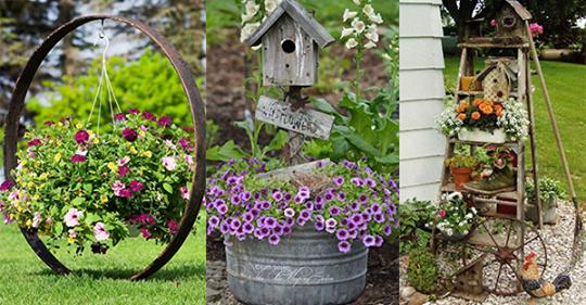 Völlig nachhaltig und wunderschön! Entdecken Sie hier 9 Top Ideen für Ihren Garten!