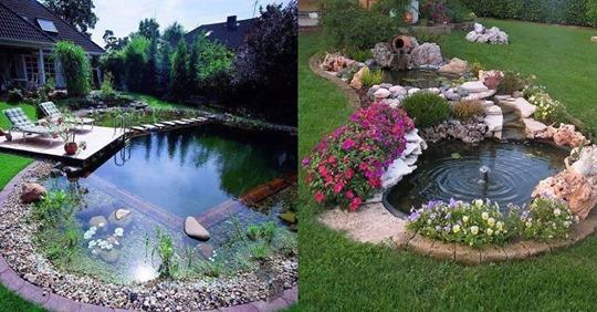 Möchten Sie gerne einen außergewöhnlichen Teich im Garten haben? Schauen Sie sich diese kreativen Teichideen schnell mal an.
