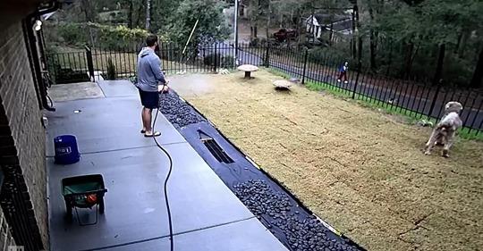 Mann lässt alles stehen und liegen und rennt zu einem älteren Nachbarn, der bekennt:  Ich habe ihn nicht mehr .