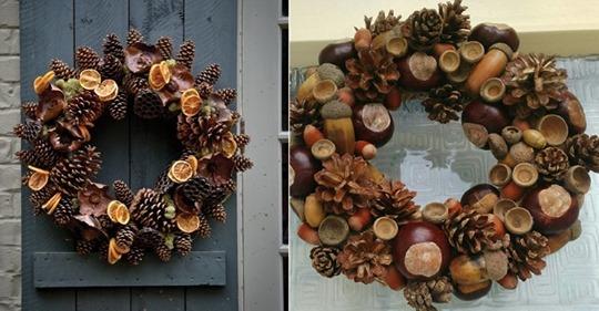 Auch schon in der Herbstatmosphäre? Machen Sie sich einfach einen wunderschönen Herbstkranz. Nummer 5 sollte Sie sich mal ansehen!