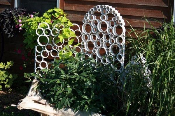 Schöne und inspirierende DIY-Beispiele: Mit einem Gitter in Ihrem Garten schaffen Sie eine zusätzliche Dimension.