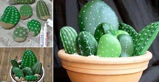 Diese Pflanzen brauchen Sie nie zu wässern! Kreieren Sie die schönsten Kakteen mit Steinen!