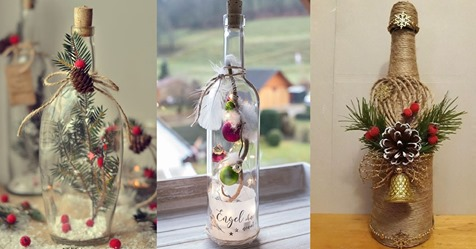 Basteln Sie mit leeren Weinflaschen wunderschöne Dekoration für die Weihnachtszeit! 10 gemütliche Ideen!