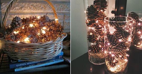 Einfach, aber einzigartig: Basteln Sie mit Tannenzapfen wunderschöne Dekorationen, um Ihr Haus in Weihnachtsstimmung zu bringen!