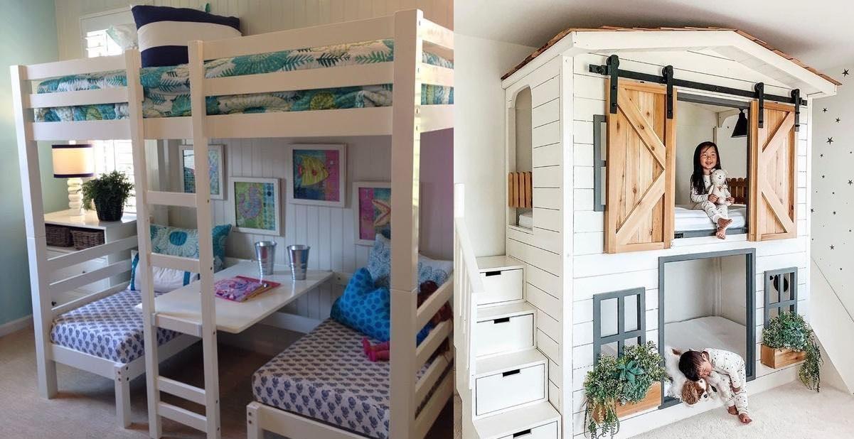 Welches Kind möchte wohl nicht solch ein schönes Schlafzimmer für sich selbst haben …? 13 super coole Ideen!
