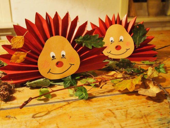 Lehren Sie Kinder auf eine spielerische Art den Herbst kennen zu lernen… 8 sehr schöne Herbst Bastel Ideen!