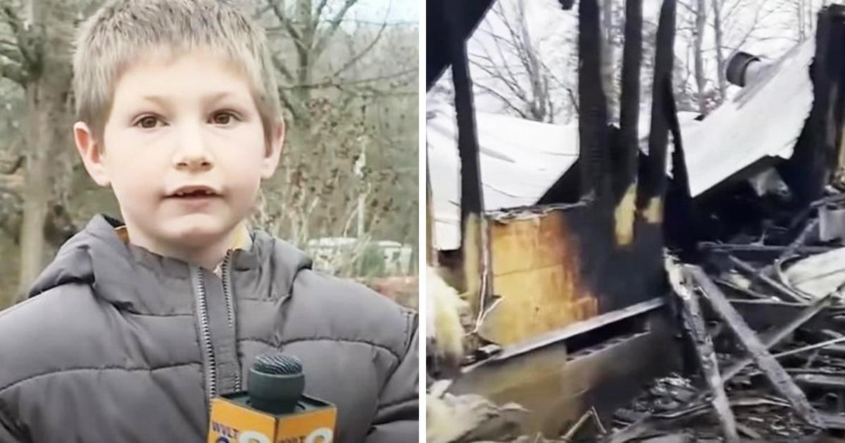 Mutiger kleiner 7-Jähriger stürmt ins brennende Haus, um seine kleine Schwester zu retten