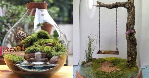 Wie niedlich sind diese Mini-Gärten?? Welche dieser 9 gefällt Ihnen am besten …?