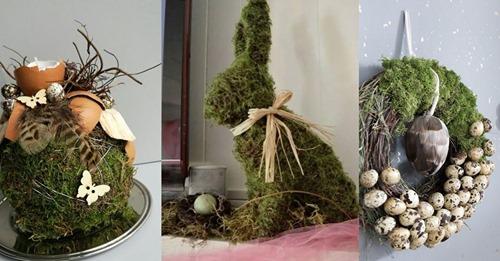 Dekorieren Sie Frühlingsdekoration mit Moos und bringen Sie die Natur mit diesen 9 Ideen in Ihr Zuhause!