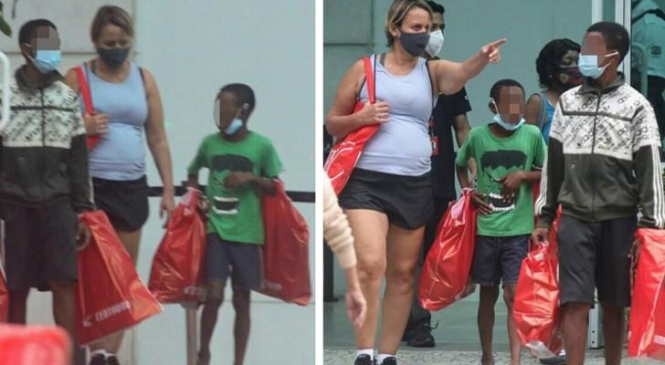 Zwei Waisenkinder versuchen, einer Passantin Süßigkeiten zu verkaufen: Sie bezahlt ihnen das Mittagessen und nimmt sie mit ins Einkaufszentrum