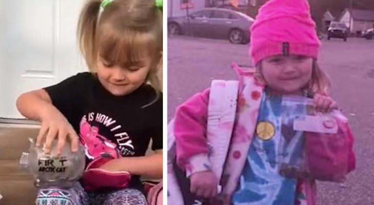 5 Jahre altes Mädchen leert ihr Sparschwein, um einem Schulkameraden in finanziellen Schwierigkeiten zu helfen