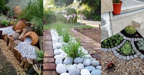 Mit Steinen können Sie wirklich schöne Effekte und mit relativ wenig Geld im Garten gestalten.