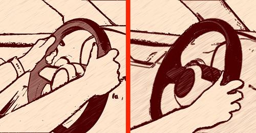 Persönlichkeitstest: Hand am Lenkrad verrät deinen Charakter