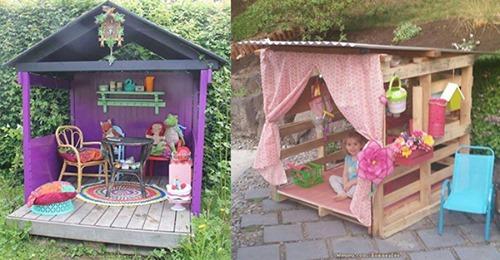 Diese Spielhäuser werden Kinder lieben. Nummer 6 ist wunderschön!