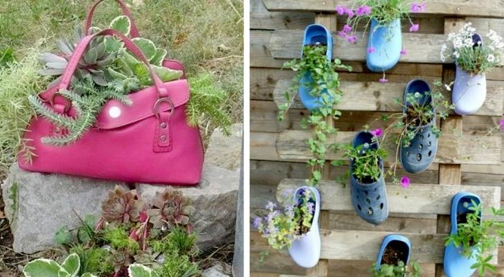 10 fantasievolle Recycling Ideen, um eurem Garten oder Außenbereich einen Hauch Eleganz zu verleihen