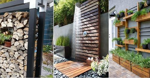 Holz im sorgt für eine ruhige und natürliche Ausstrahlung im Garten… 8 Beispiele.