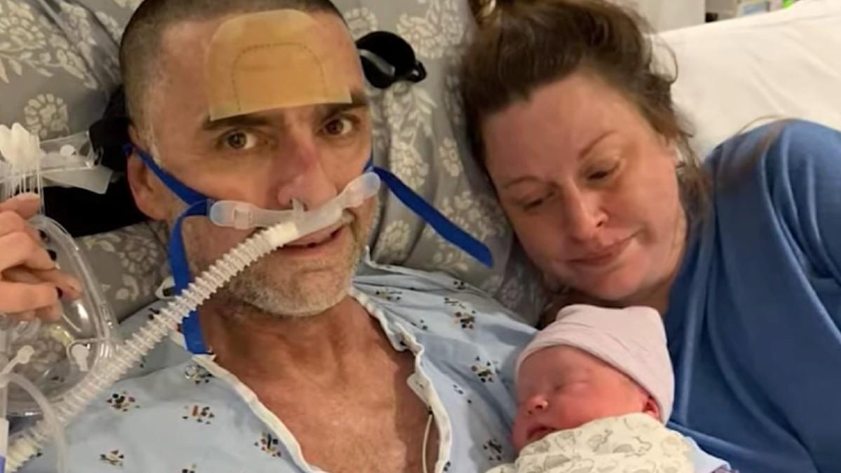 Mann mit schwerer Lungenkrankheit erfüllt sich letzten Wunsch und lernt seinen neugeborenen Sohn kennen – einen Tag später stirbt er