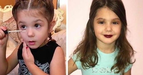 Mutter bringt ihrer 3 jährigen Tochter bei, wie man sich jeden Tag schminkt – es gibt Lob und Kritik im Internet