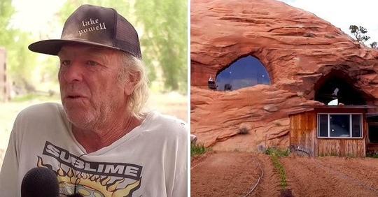 Ein Mann verbringt acht Jahre damit, ein 530 Quadratmeter großes Haus im Wüstengestein zu bauen