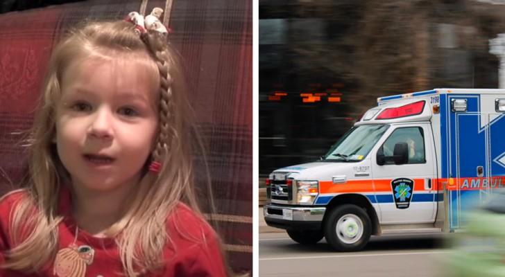 Dieses fünfjährige Mädchen hat einen Krankenwagen gerufen, um seinen Vater zu retten, und dabei eine beneidenswerte Ruhe bewahrt