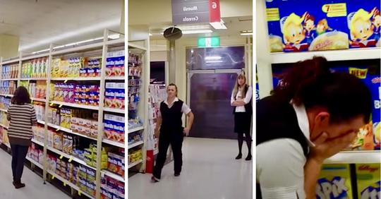 Supermarktangestellte hat zwei Jobs, um vier Kinder zu versorgen – schnappt nach Luft, als sie zu Kundin in Gang 6 gerufen wird