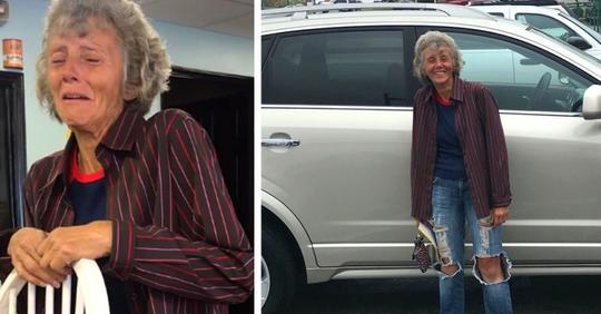 Mit 60 Jahren läuft sie täglich fast 40Km zur Arbeit: Ihre Kollegen schenken ihr ein neues Auto