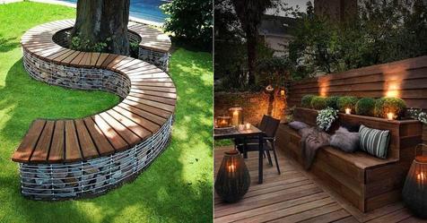 Ihre eigene Gartenbank zu machen ist immer eine gute Idee! Lassen Sie sich von diesen Ideen inspirieren.
