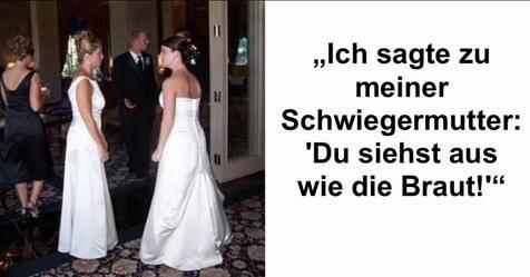 Schwiegermutter trägt bei Hochzeit von Amy Pennza ein Brautkleid