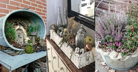 Haben Sie noch einen alten Korb oder Kiste? Damit gestalten Sie wunderschöne Dekorationen.