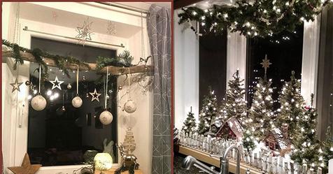 Machen Sie Ihr Zuhause extra gemütlich mit diesen super schönen Fensterdekorationsideen in weihnachtlicher Atmosphäre!